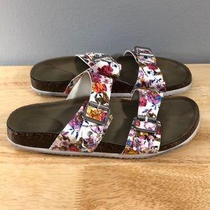 Steve Madden Girl Floral Sandals Flower 7